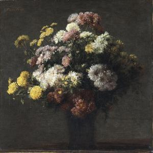 Vase with Chrysanthemums by Henri Fantin-Latour