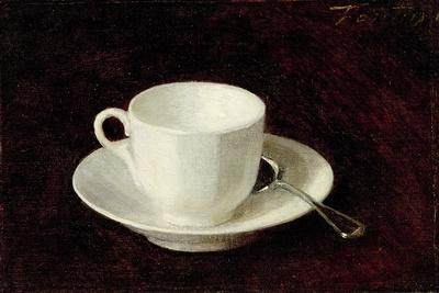 White Cup and Saucer, 1864