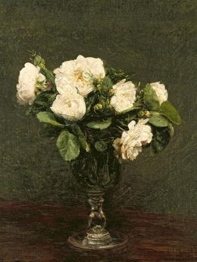 White Roses, 1875 by Henri Fantin-Latour