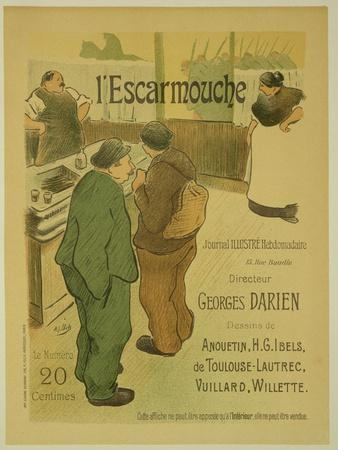 Reproduction of a Poster Advertising 'L'Escarmouche', a Weekly Illustrated Journal, 1893