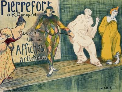 Reproduction of a Poster Advertising 'Pierrefort Artistic Posters', Rue Bonaparte, 1897