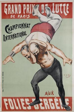 Wrestling Championship of Paris at the Folies Bergere