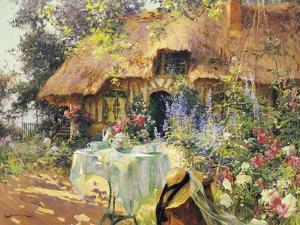 Summer in the Garden by Henri-Gaston Darien