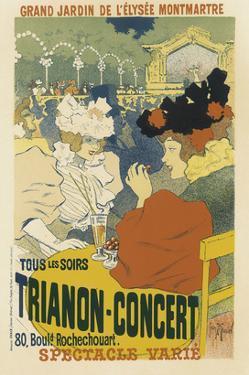 Trianon, Concert Grand Jardin De L'Elysee, Montmartre by Henri Georges Jean Isidore Meunier