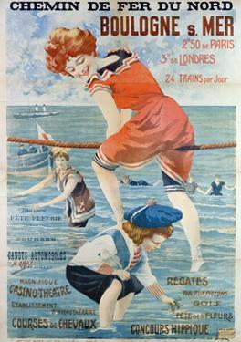 Poster Advertising the Seaside Resort of Boulogne Sur Mer, 1905 by Henri Gray