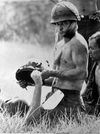 Vietnam War - U.S. Army Wounded by Henri Huet