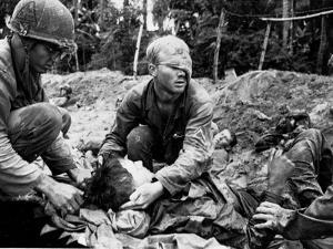 Vietnam War U.S. Medic Cole by Henri Huet