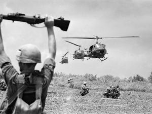 Vietnam War US Helicopters by Henri Huet