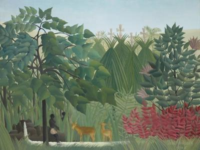 The Waterfall, 1910 by Henri J.F. Rousseau