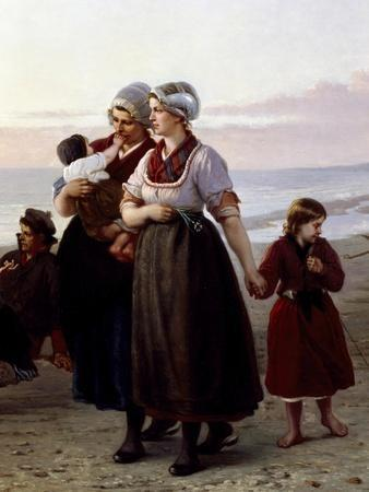 Mothers and Children, Detail from Summer on a Breton Beach