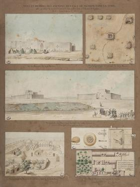 Six Views and Drawings of Lake Natron in Libya by Henri Joseph Redoute