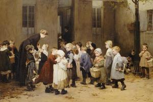 Back to School by Henri Jules Jean Geoffroy