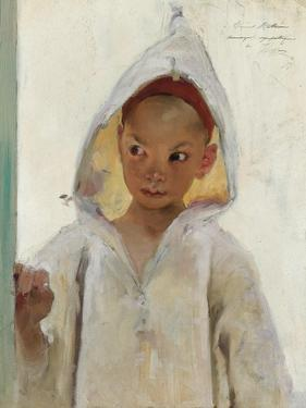 Portrait of a Young Boy Wearing a Burnous by Henri Jules Jean Geoffroy
