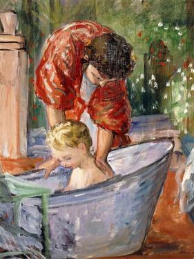 The Bath; Le Bain by Henri Lebasque