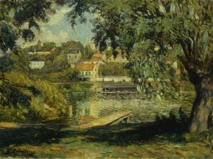 Village on the Banks of the River by Henri Lebasque