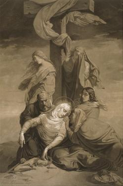 Lamentation at the Foot of the Cross by Henri Lehmann