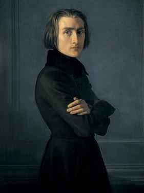 Portrait of Franz Liszt by Henri Lehmann