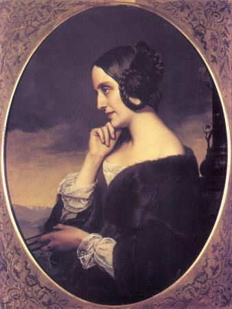 Portrait of Marie D?Agoult (1805-187), 1843 by Henri Lehmann