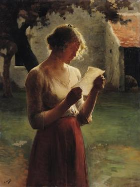The Letter by Henri Lerolle