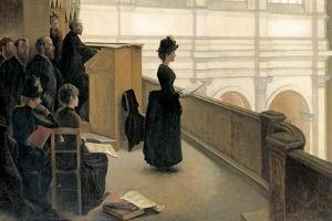 The Rehearsal in the Choir Loft by Henri Lerolle