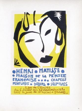 AF 1950 - Maison De La Pensée Française by Henri Matisse