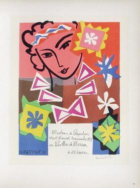 AF 1951 - Bal De L'Ecole Des Arts Décoratifs by Henri Matisse