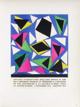 AF 1953 - Mourlot A La Galerie Kleber by Henri Matisse