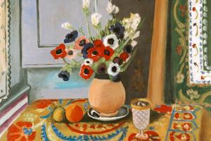 Henri Matisse Les Anemones Flowers Plastic Sign by Henri Matisse