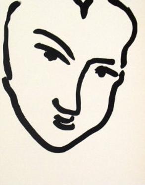 Nadia Au Visage PenchÈ by Henri Matisse