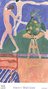 "Nasturtiums with the Painting ""Danse"" by Henri Matisse"
