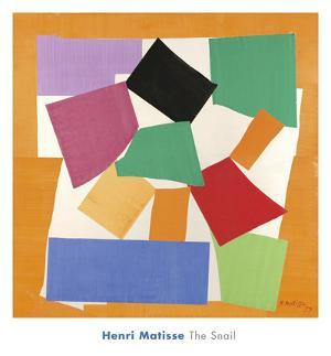 The Snail, 1953 by Henri Matisse