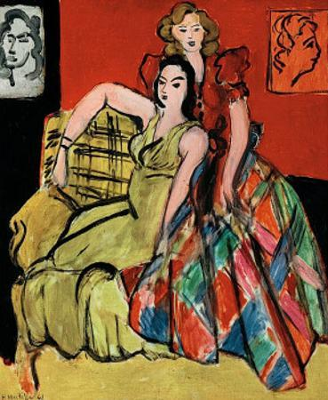 Two Young Women, the Yellow Dress and the Scottish Dress, c.1941 by Henri Matisse