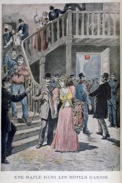 Arrest of Prostitutes in a Parisian Hotel, 1895 by Henri Meyer