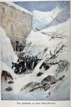Avalanche at Mont Saint-Bernard, Switzerland, 1897 by Henri Meyer