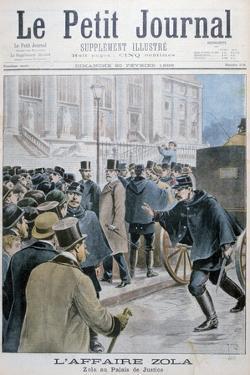 Émile Zola Affair, Being Taken to the Palais De Justice, Paris, 1898 by Henri Meyer