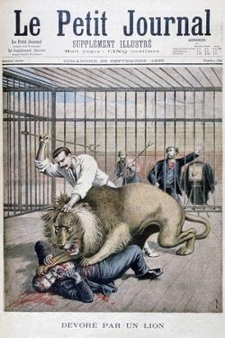 Lion Attack, 1895 by Henri Meyer