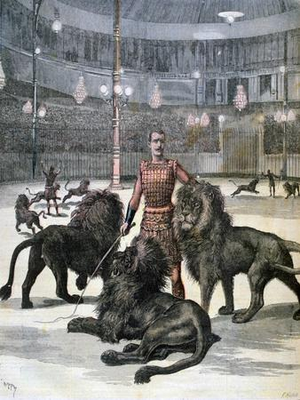 Lion Taming at the L'Hippodrome, Paris, 1891