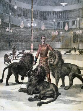 Lion Taming at the L'Hippodrome, Paris, 1891 by Henri Meyer