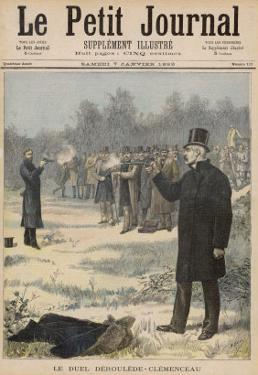 Paul Deroulede and Georges Clemenceau Duel with Pistols by Henri Meyer