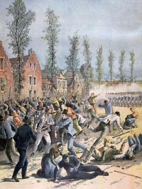 Rioting in Mons, Belgium, 1893 by Henri Meyer