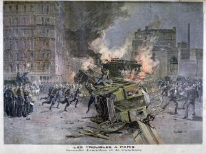 Riots in Paris, 1897 by Henri Meyer