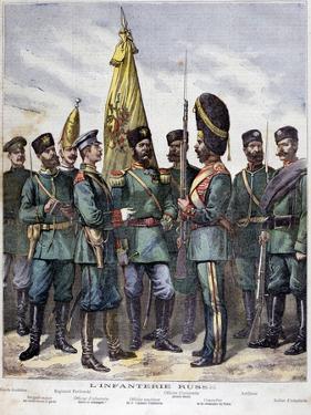 Russian Infantry, 1892 by Henri Meyer