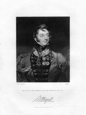 Sir Charles William Doyle, British General, 1829 by Henri Meyer