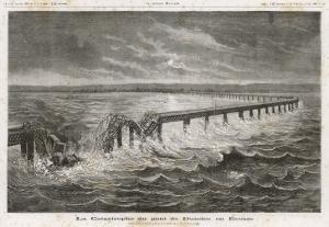 Tay Bridge Bridge Collapses During a Storm with Disastrous Consequences by Henri Meyer