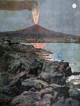 The Eruption of Etna, Sicily, 1892 by Henri Meyer