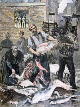 The Fish Market, Paris, 1893 by Henri Meyer