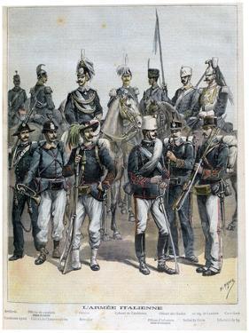 The Italian Army, 1892 by Henri Meyer
