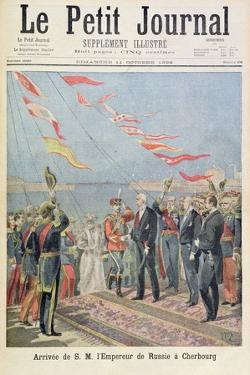 Title Page Depicting the Arrival of His Majesty the Emperor of Russia in Cherbourg from the Illustr by Henri Meyer