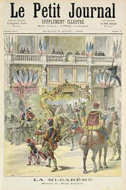 Title Page Depicting the Mid-Lent Parade in Front of the Petit Journal Offices from the Illustrated by Henri Meyer