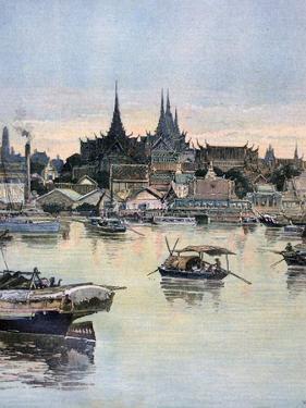View of Bangkok, 1893 by Henri Meyer